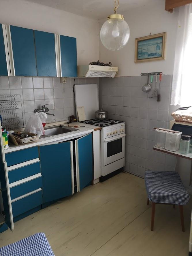 Původní, tedy stávající stav - Stará kuchyň