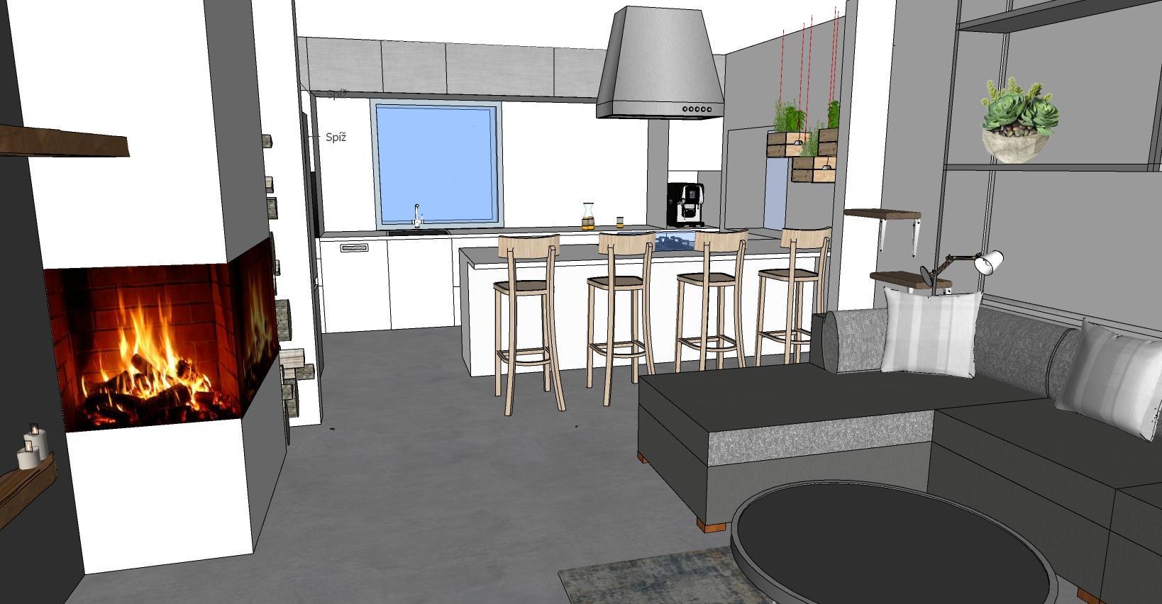 Modelování kuchyně, zatím takto :-) - Obrázek č. 1