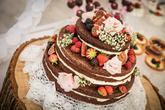 Svatební naked dort
