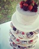 Svatební cupcakes dort