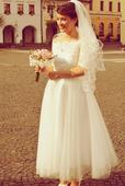 Svadobné šaty 50 roky - ivory, 36