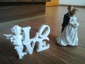 Figurky - dekorace na svatební stůl ,