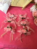 Svatební vývazky - růžové,