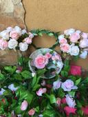 Květiny - růžové růžičky,