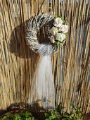 Svatební věnec na dveře ,