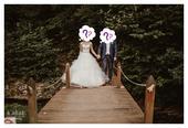 Svadobné šaty - šité, 34