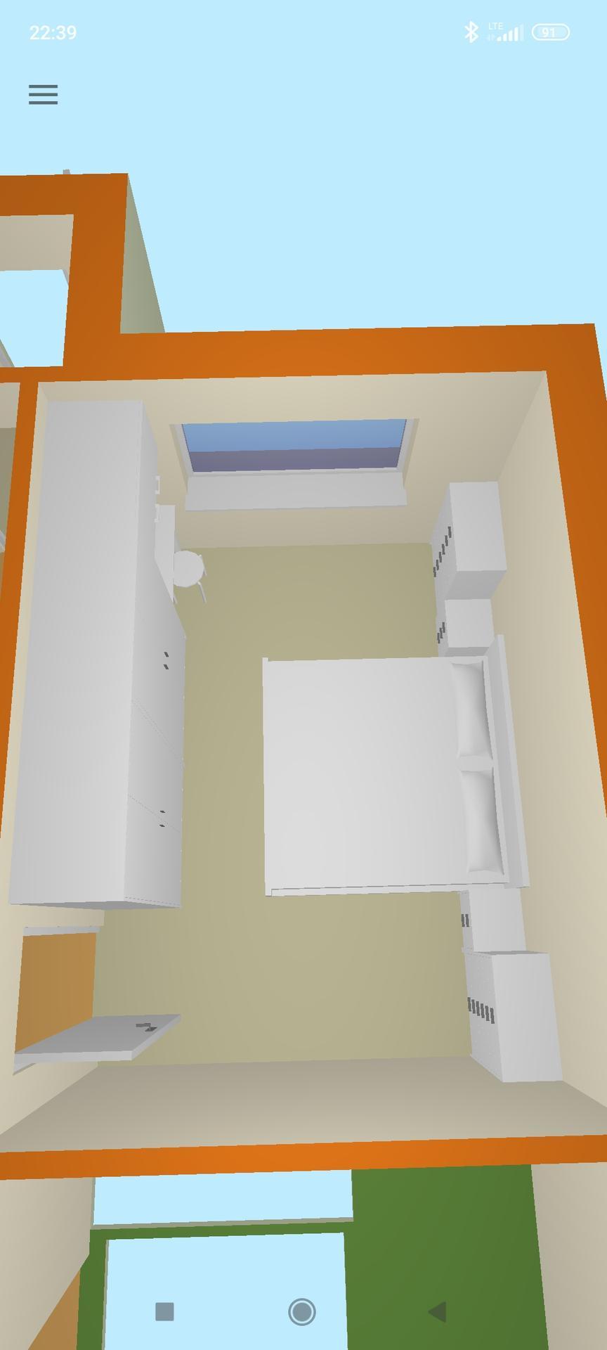 Ložnice - Jednoduchý plánek ložnice