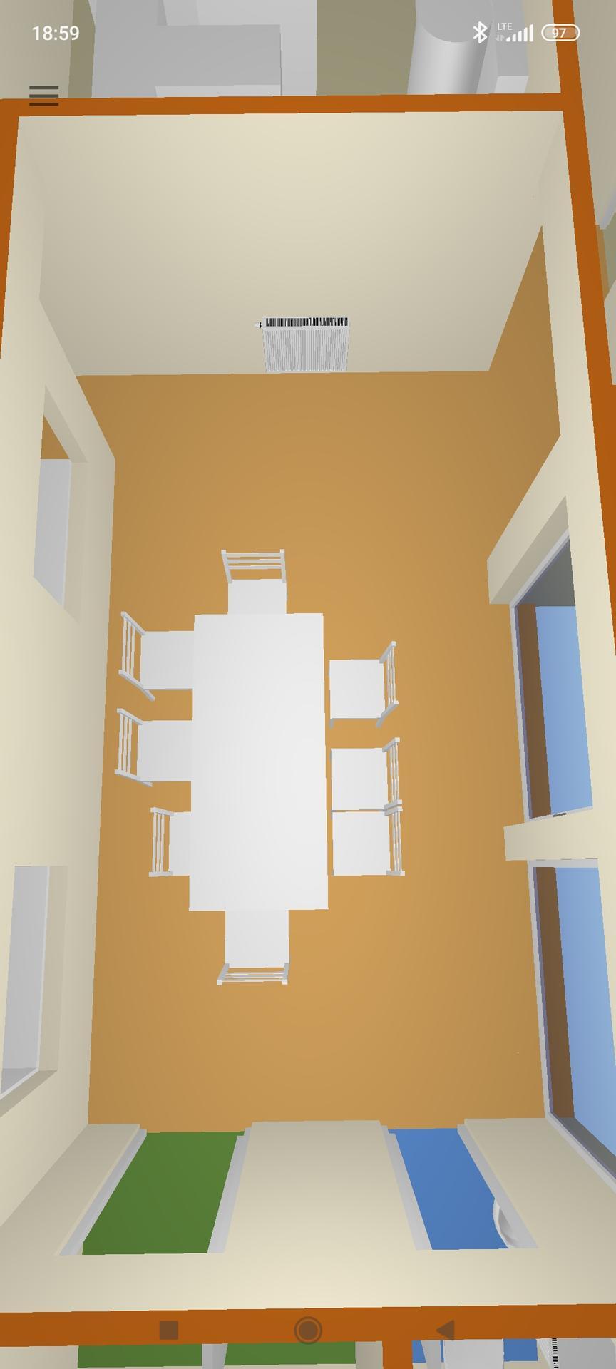 Veranda + chodba - Jednoduchý plánek verandy