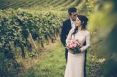 Celokrajkové svatební šaty s vlečkou od ELODY, 34