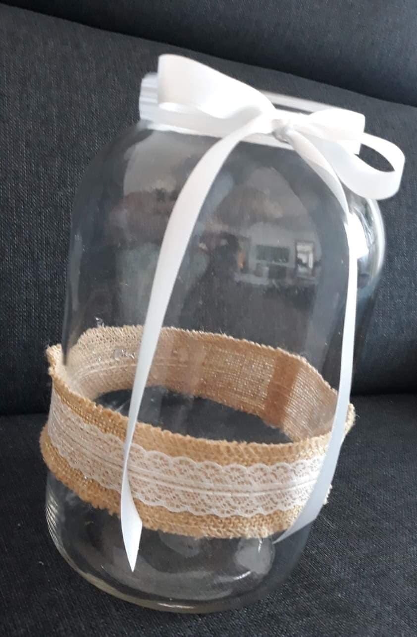 Velká sklenice na svíčku nebo květinu - 4 kusy - Obrázek č. 1