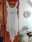 Bodyflirt - bílé šaty s asymetrickým střihem v. 34, 34