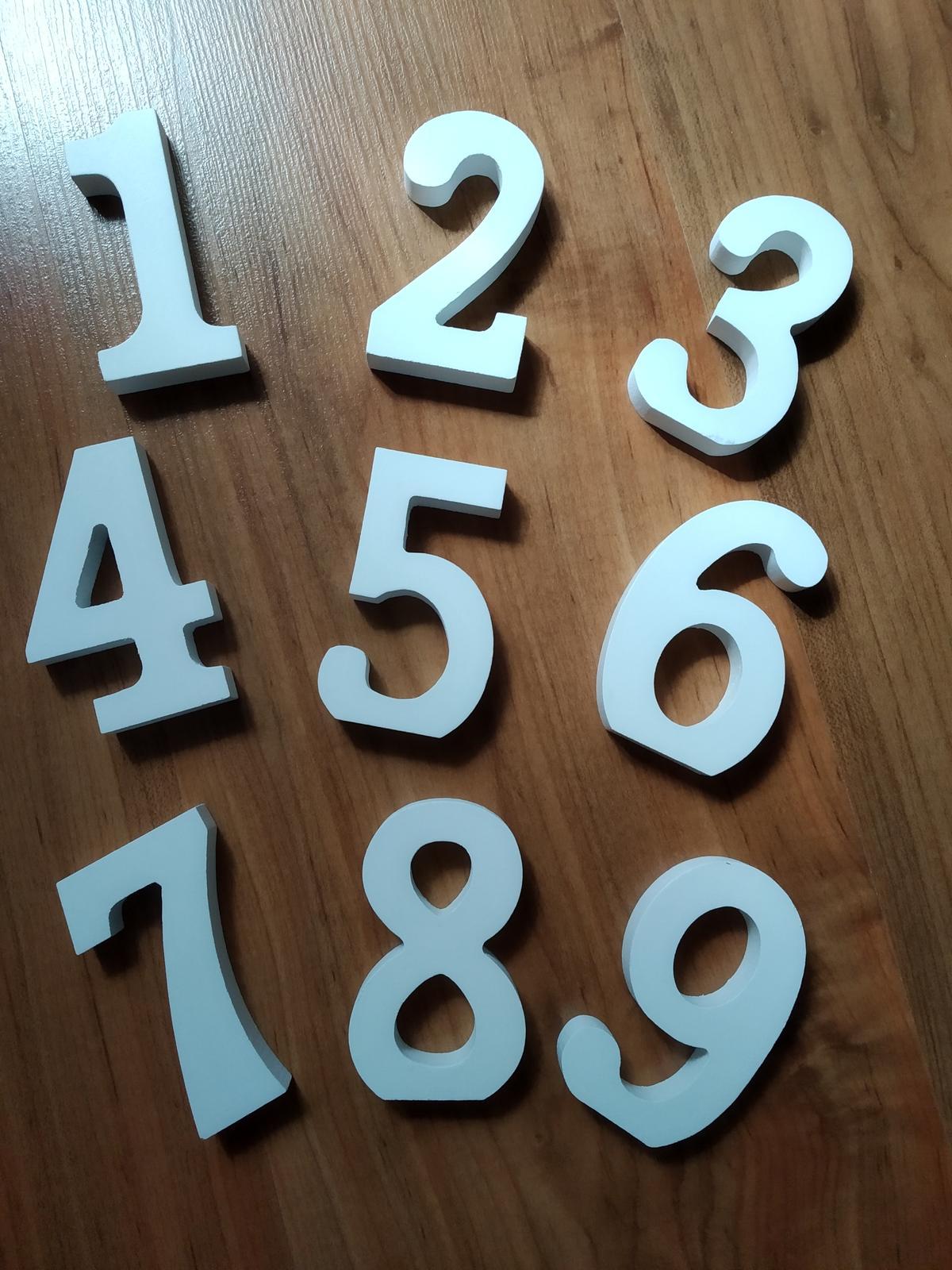 Čísla na stoly - Obrázok č. 1