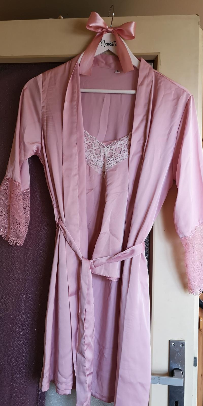 Světle růžový županek a pyžamko - Obrázek č. 1