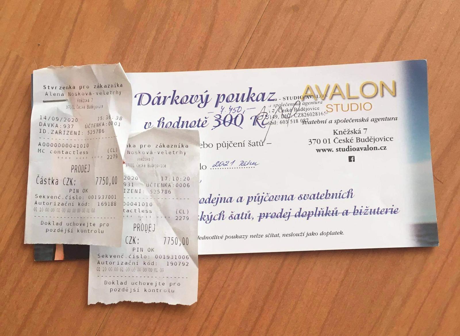 Poukázka do svatebního salonu Avalon CB - Obrázek č. 1