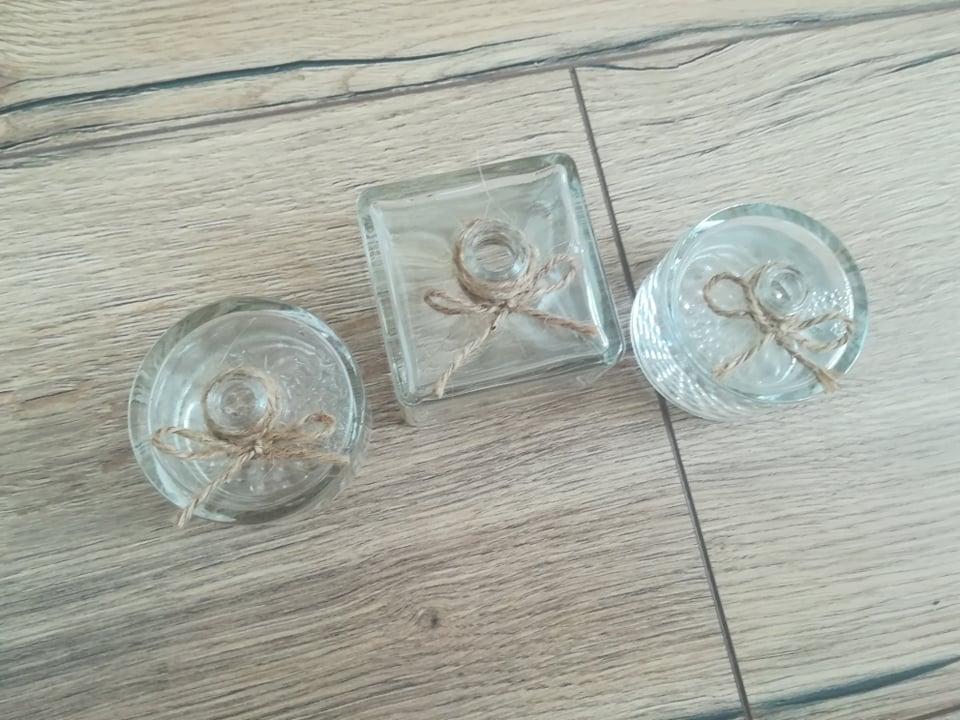 Malé vázičky s jutovinovým špagátom - Obrázok č. 2