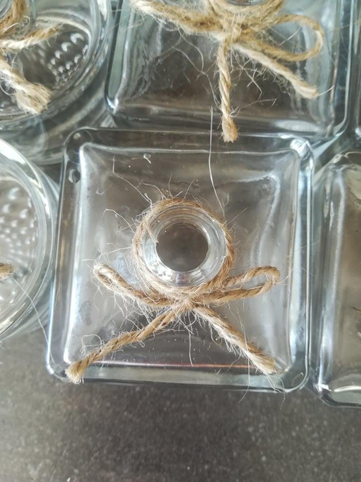 Malé vázičky s jutovinovým špagátom - Obrázok č. 3