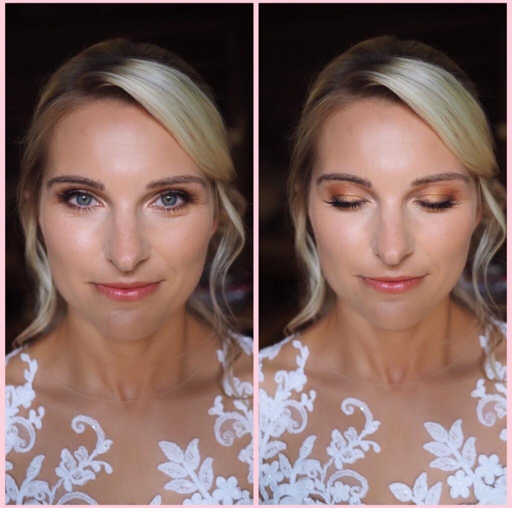 Nevěsty 2019 - Úžasná nevěsta v Den D🌸,požadavek zněl rozjasněná pleťovka,žádné vrstvy makeupu,decentní očka a přirozená rtěnka🎀