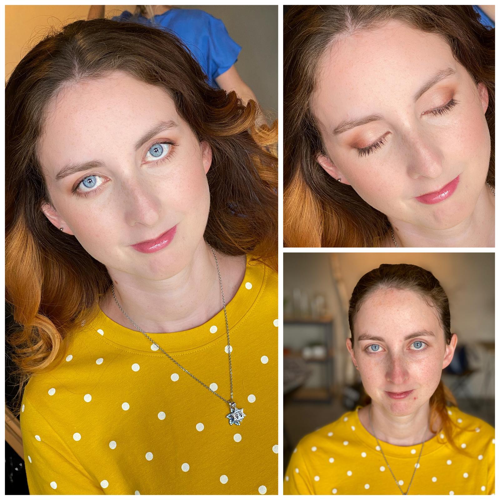 Makeup & hair 2020 - Velmi decentní makeup pro družičku🙏🏻,cílem bylo sjednotit pleť,zachovat pihy a zvýraznit barvu očí💛🌿