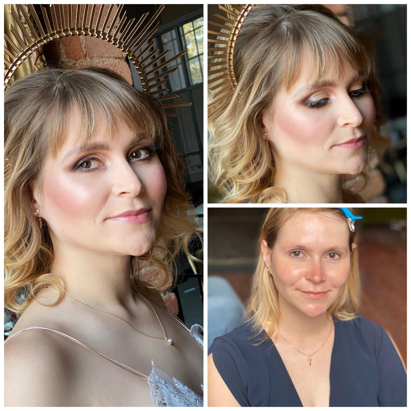 Makeup & hair 2020 - Velmi výrazný makeup na focení🙏🏻, sjednocení pleti, výrazné lícní kosti,stínované oko s výraznou linkou a mořem třpytu💛🌿
