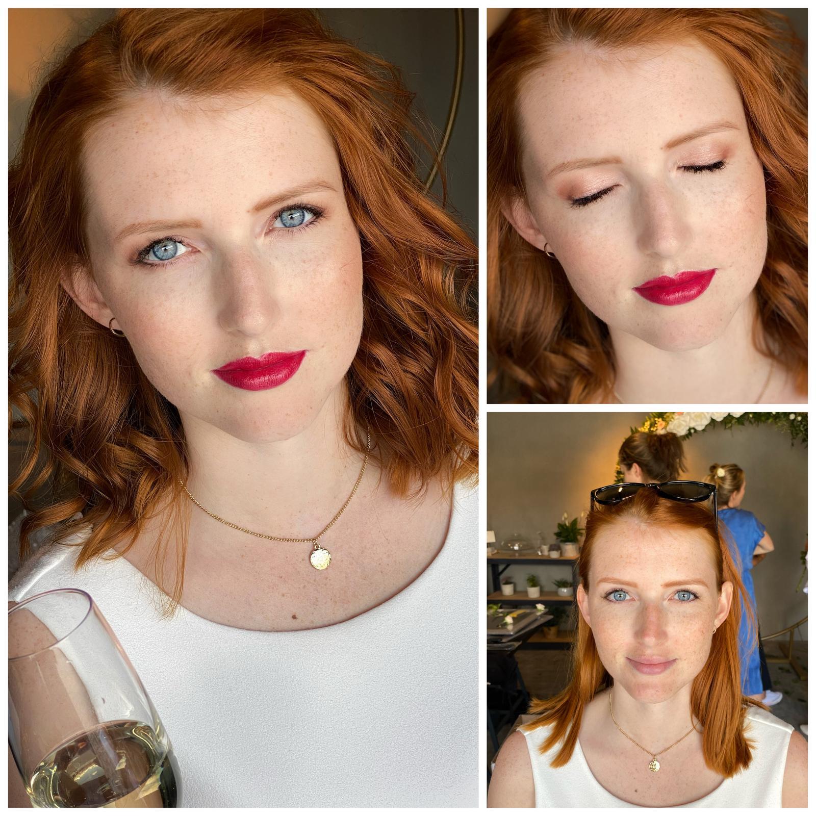 """Makeup & hair 2020 - Makeup na """"rozlučku se svobodou""""🌿,výrazné rty,sjednocená pleť,decentně zvýrazněné oči🙏🏻💛"""