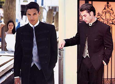 Zásnuby - predstavy môjho ženícha o obleku s krémovou vestou a kravatou