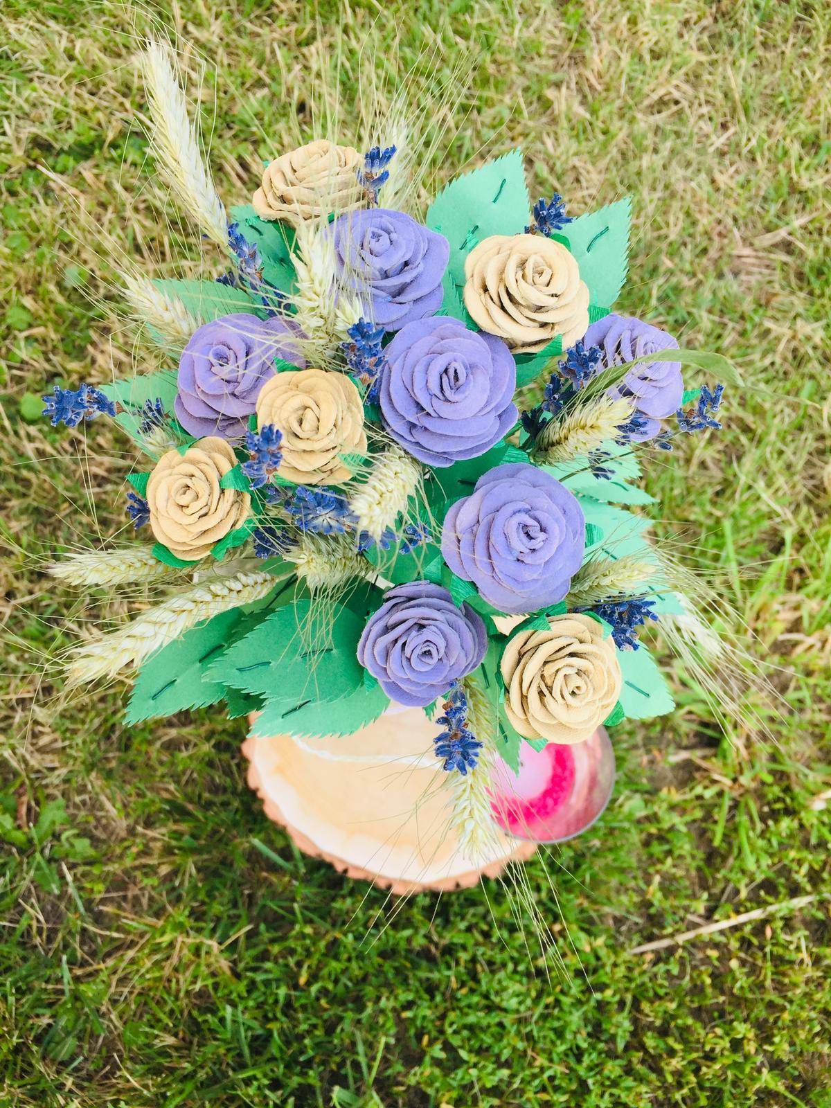 lahev s růžemi a obilím - Obrázek č. 2
