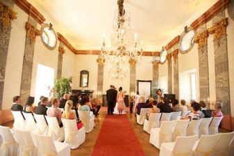 zámek Potštejn, mramorový sál