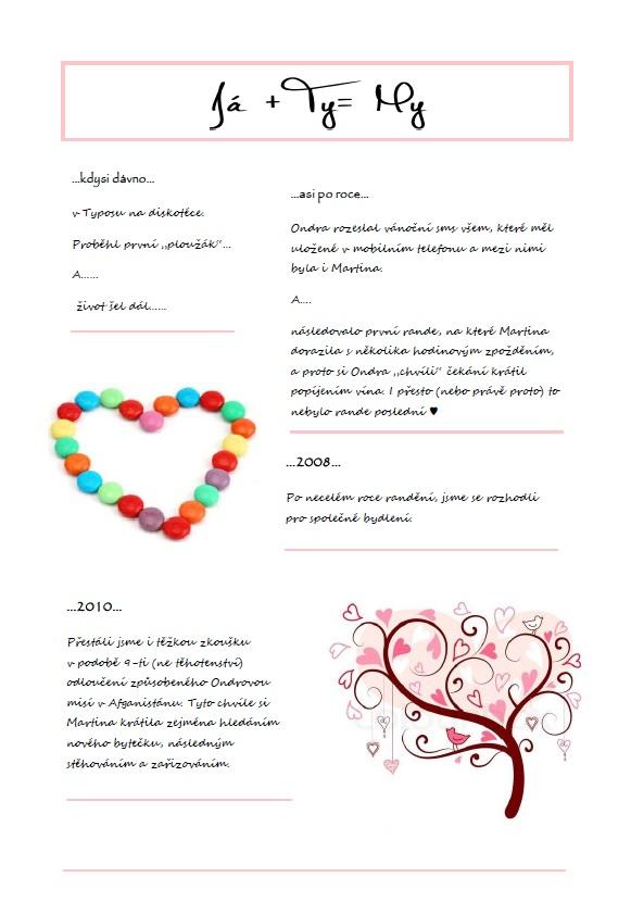 ♥ naše svatební noviny ♥ - Obrázek č. 1