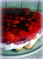 Nepečený jahodový dortík s mascarpone