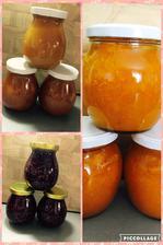 marmelády: malinová, meruňková, broskvovo/meruňková