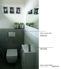 koupelna a wc rako cemento, podlaha celý dům rako cemento