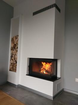 Moderné krby a pece realizácie na drevo aj plyn - Obrázok č. 4