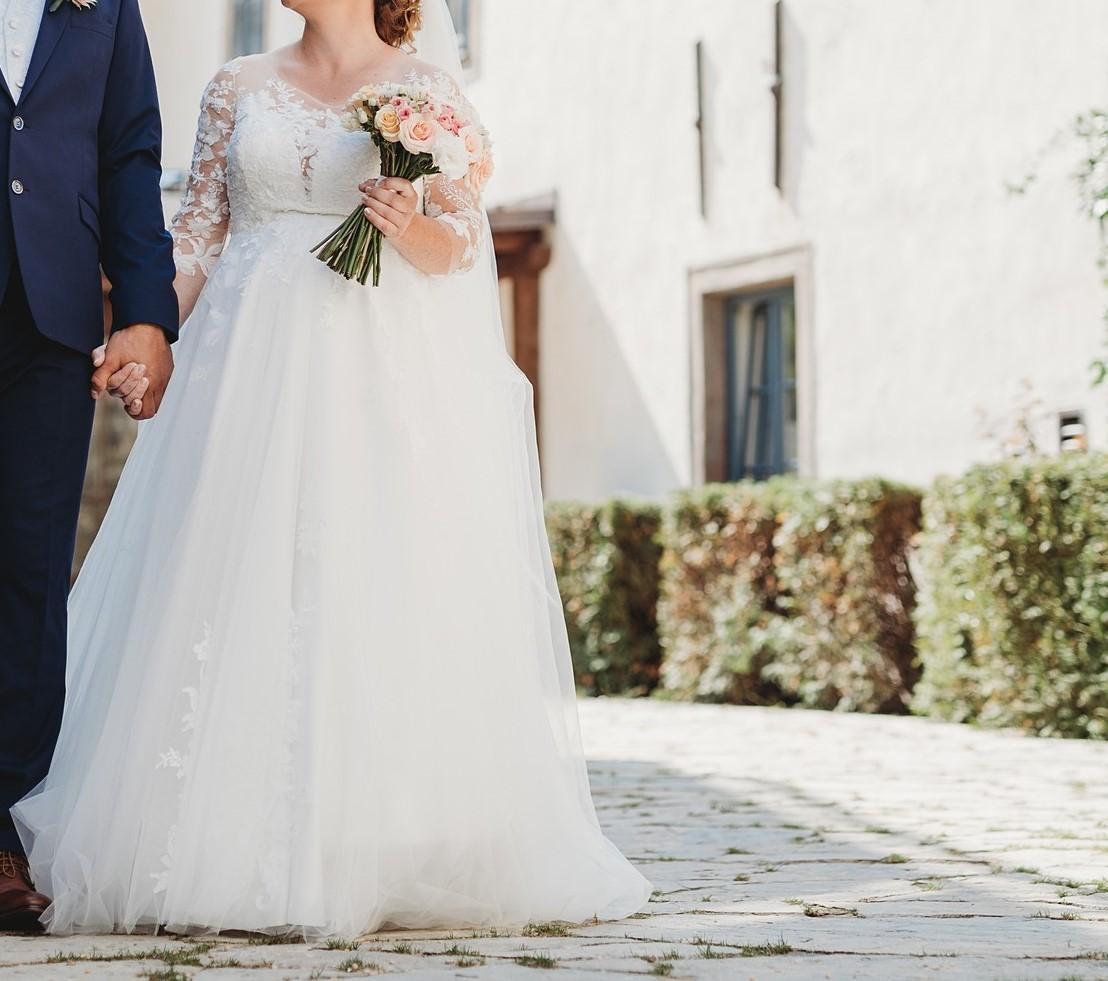 """Svadobné šaty """"CANDY"""" značky Eva Grandes v TEHOTENSKEJ VERZII - Obrázok č. 1"""