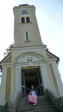 Kostel s nevěstou - zkoušeli jsme ozvučení.