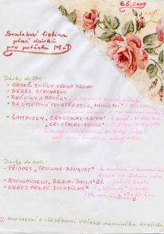 Svatební dary - Listina