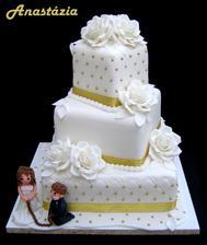 svadobná torta....schválena u pani cukrárky....len bez tých postavičiek....
