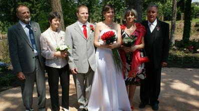 s rodiči nevěsty i ženicha