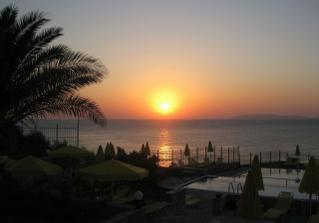 Líbánky na Krétě - pohled z pokoje