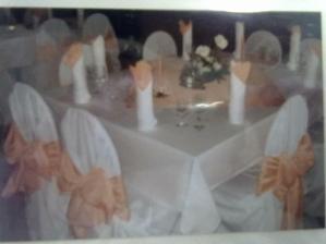 Ukazky vyzdoby aku robia v restike kde bude svadba...mam o starost menej, len si vybrat :)