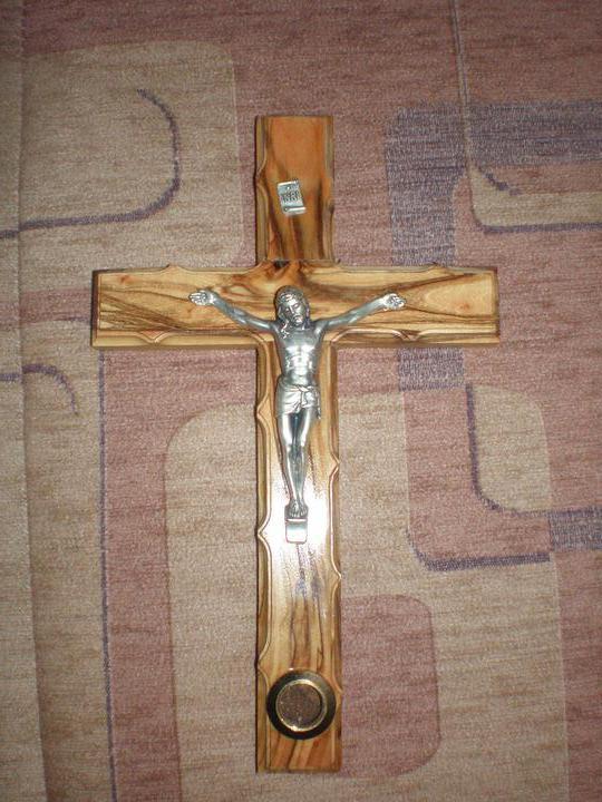 NASA SVADBA REALNE..co uz mame :) - Náš krížik priamo z Jeruzalema...dakujeme babina :)