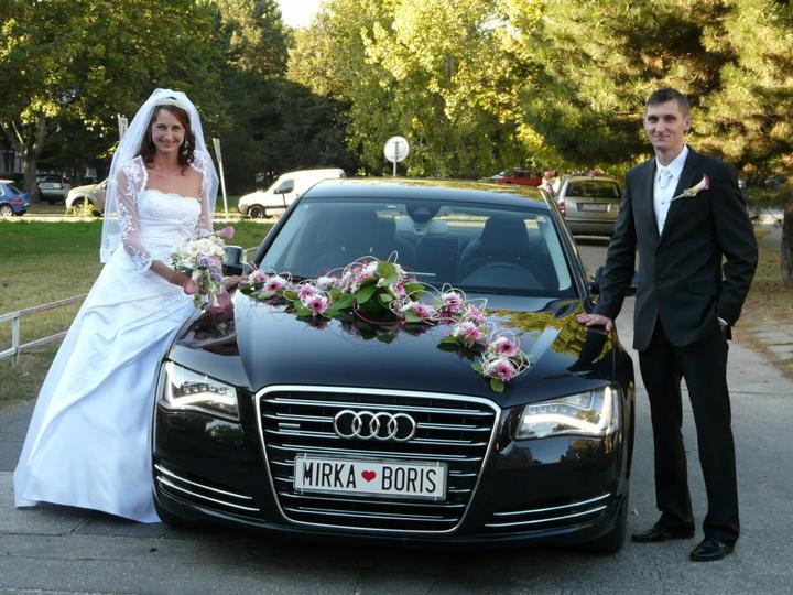 Miriamka{{_AND_}}Borisko - S výzdobou auta som bola nadmieru spokojná