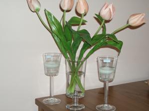 a toto su nase vazicky, trosku maju kratsiu stopku ale pacia sa nam, len tam pojde viac tulipanov a bielych