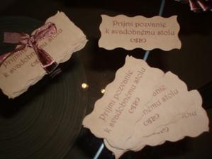 a pozvanky k svad. stolu tiez...