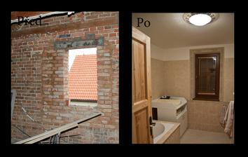 Koupelna - bohužel to vypadá, že co se týče fotek PŘED, mám asi jen tuhle jedinou....