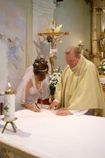 Podpis manželky
