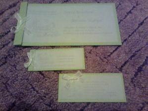 oznamko, karticka - pozvání k obedu a na vecir pro rodinu (stejna pro pratele na vecer) a svatebni dary - penizky
