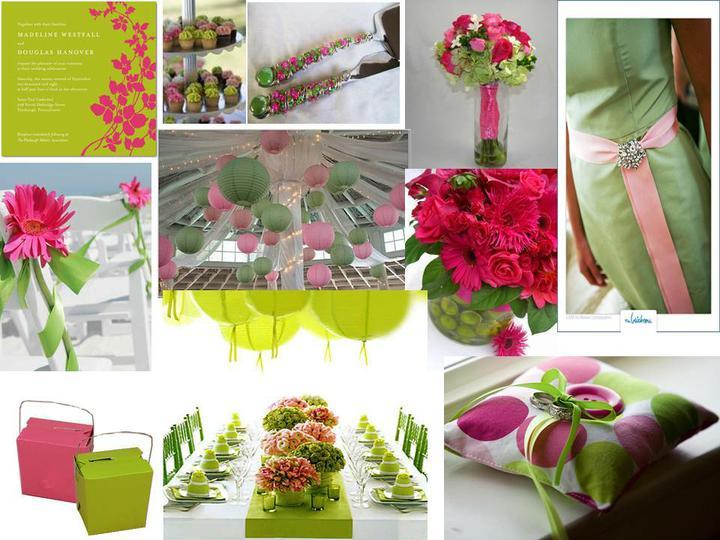 Pink+green wedding - Obrázok č. 17