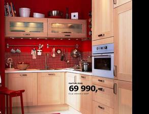 IKEA kuchyně - takhle bude vypadat naše,červenou mozaiku už také máme