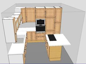 vizualizace naší kuchyně