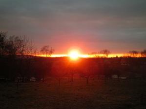 západ slunce z našeho domečku